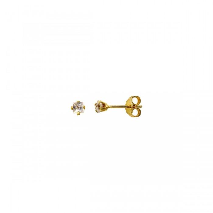 Σκουλαρίκια χρυσά 14Κ με ζιργκόν πέτρες - S1151