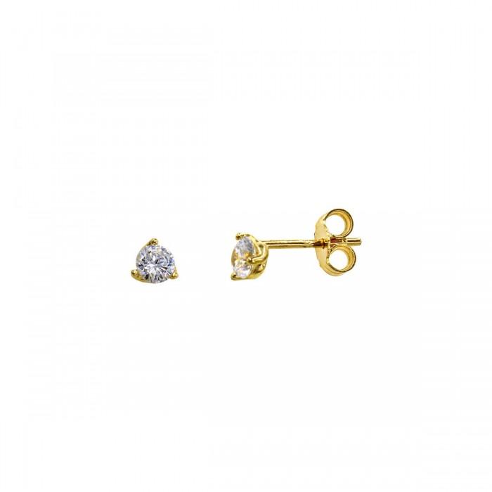 Σκουλαρίκια χρυσά 14Κ με ζιργκόν πέτρες - S1158K
