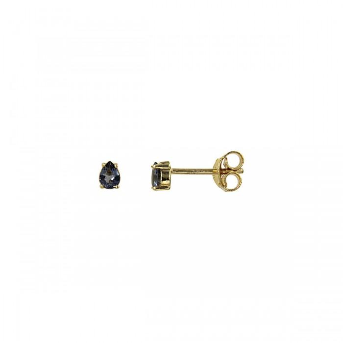 Σκουλαρίκια χρυσά 14Κ με ζιργκόν πέτρα - S1163