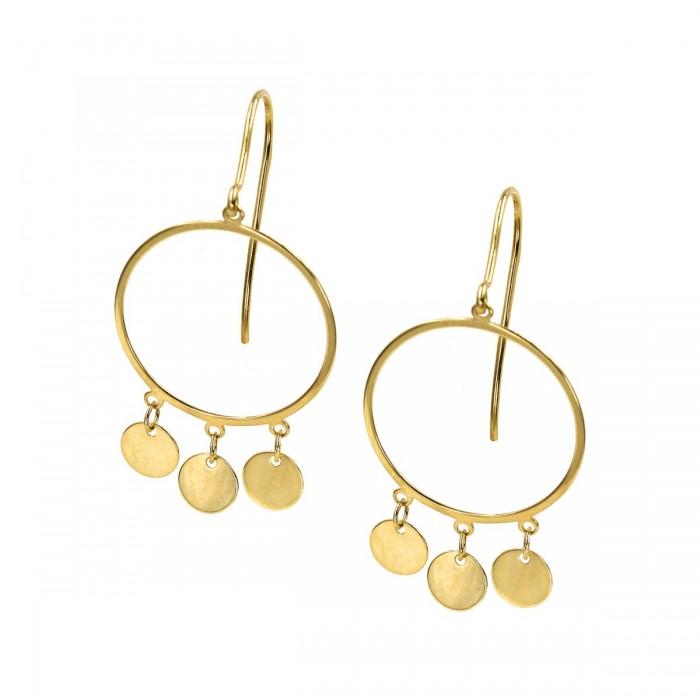 Σκουλαρίκια κρεμαστά χρυσά 14Κ - S1165