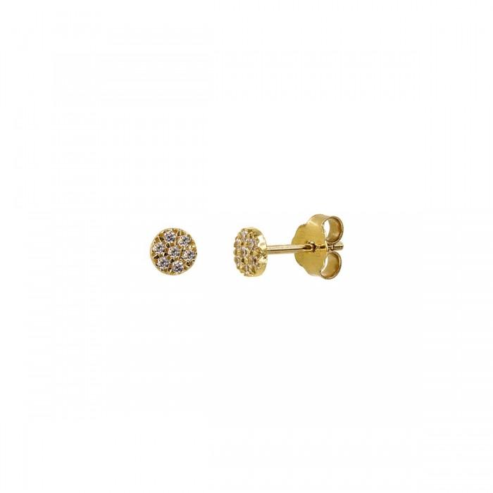 Σκουλαρίκια χρυσά 14Κ με ζιργκόν πέτρες - S1168K