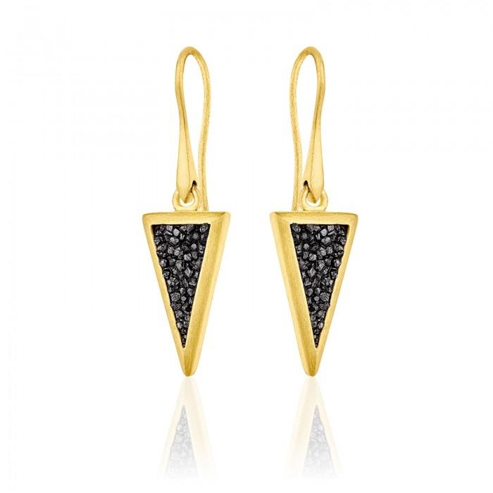 Small diamond triangle earrings - SDE4YB