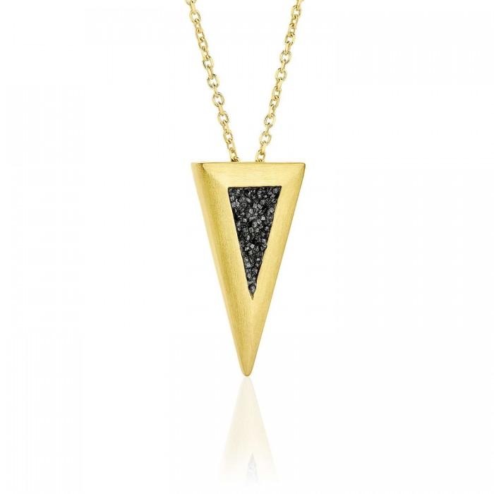 Large diamond triangle pendant - SDP4YB