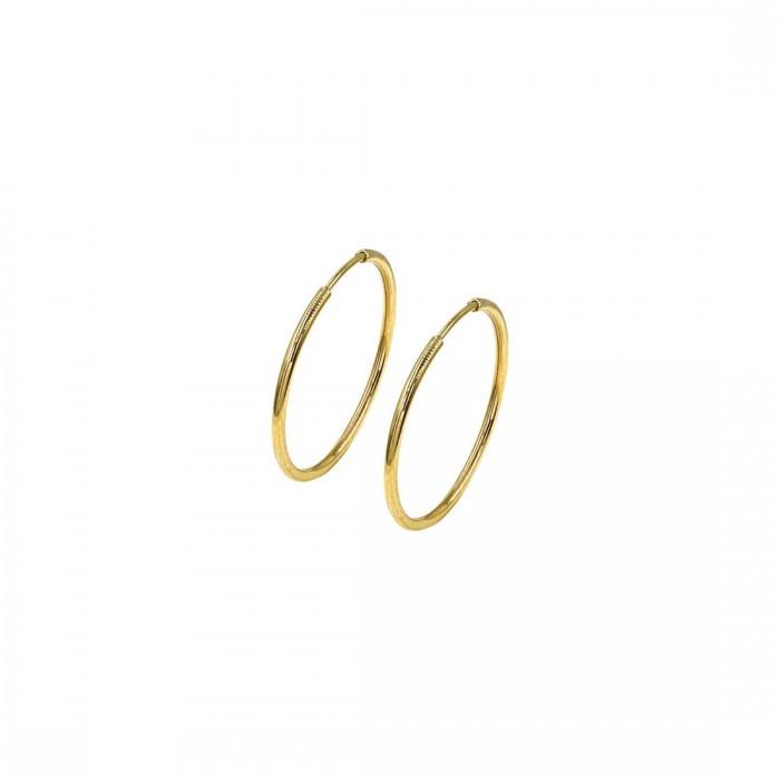 Σκουλαρίκια Κρίκοι χρυσά 14Κ - SK1006