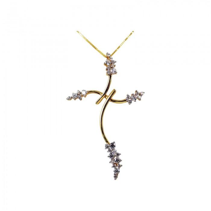 Γυναικείος χρυσός σταυρός 14Κ - ST1320Κ