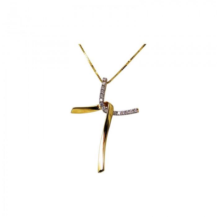 Γυναικείος χρυσός σταυρός 14Κ - ST1326