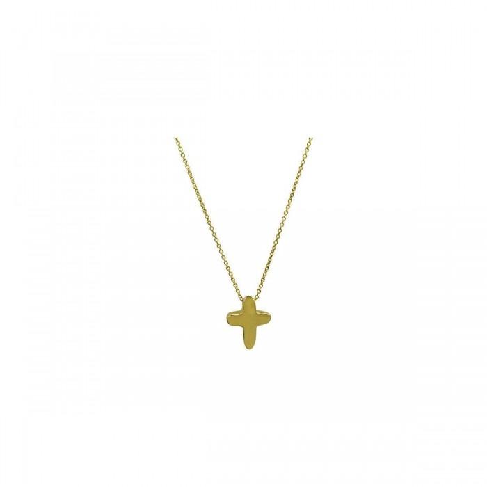 Κολιέ σταυρός χρυσό 14Κ - ST1508K