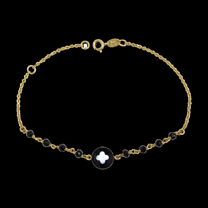 Βραχιόλι βανκλίφ χρυσό 14Κ - BR1001