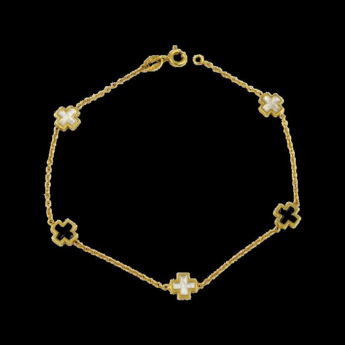 Βραχιόλι χρυσό 14Κ - BR1024