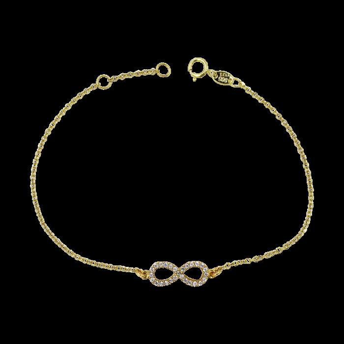 Βραχιόλι άπειρο χρυσό 14Κ - BR1106