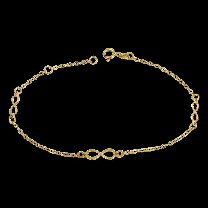 Βραχιόλι άπειρα χρυσό 14Κ - BR1114