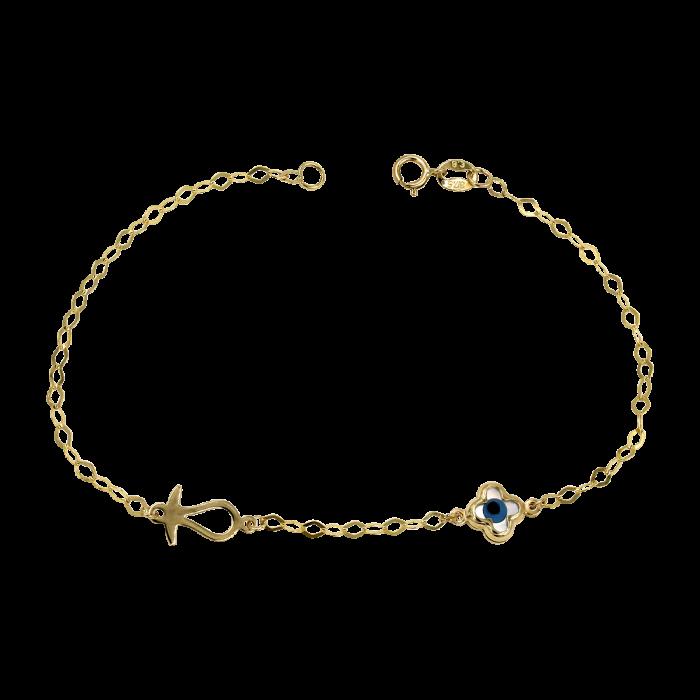 Παιδικό χρυσό βραχιόλι 9Κ - PB1025