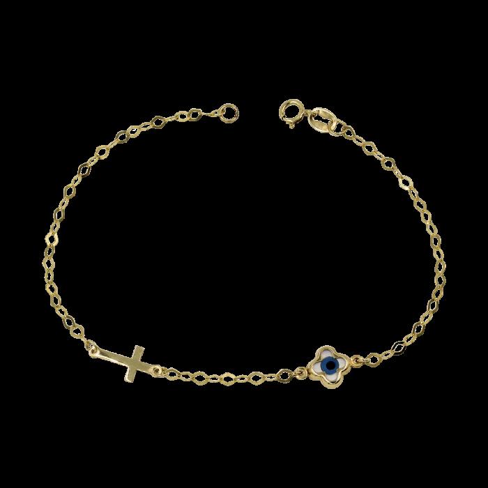 Παιδικό χρυσό βραχιόλι 9Κ - PB1028