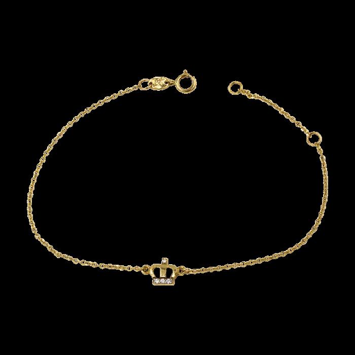 Χρυσό βραχιόλι κορόνα 14Κ - PB1033