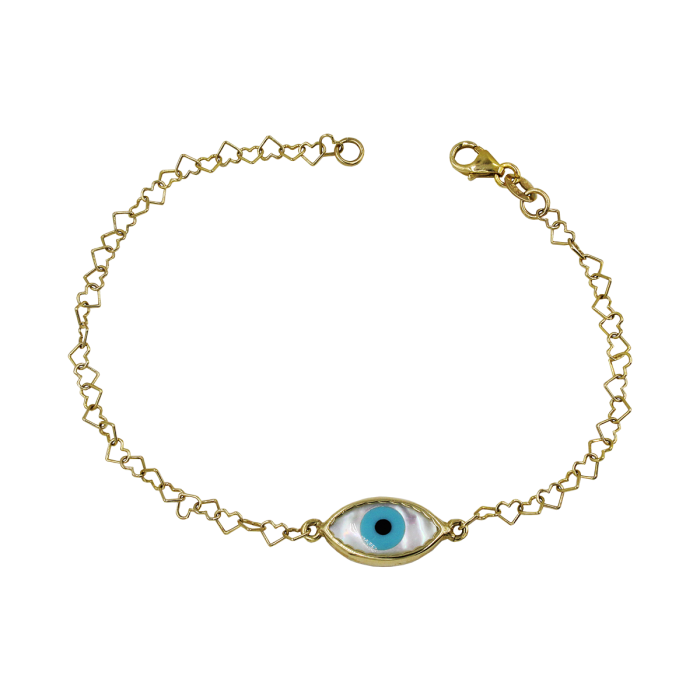 Χρυσό βραχιόλι μάτι 14Κ - PB1034