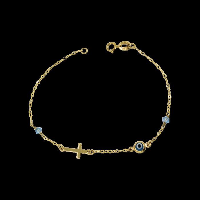 Παιδικό χρυσό βραχιόλι 14Κ - PB1036
