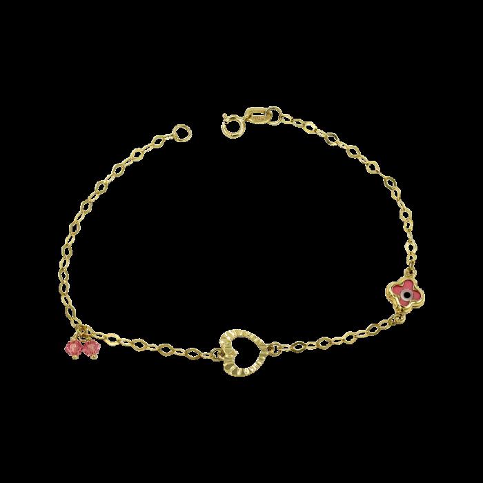Παιδικό χρυσό βραχιόλι 14Κ - PB1043
