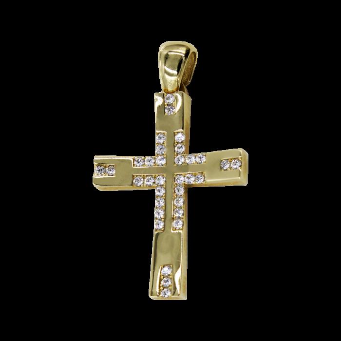 Γυναικείος χρυσός σταυρός 14Κ - ST1039