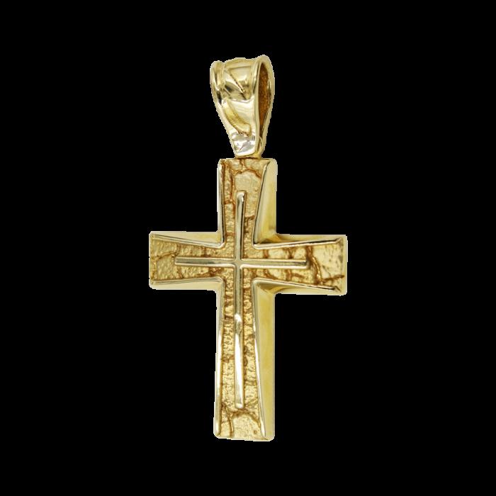 Ανδρικός χρυσός σταυρός 14Κ - ST1072