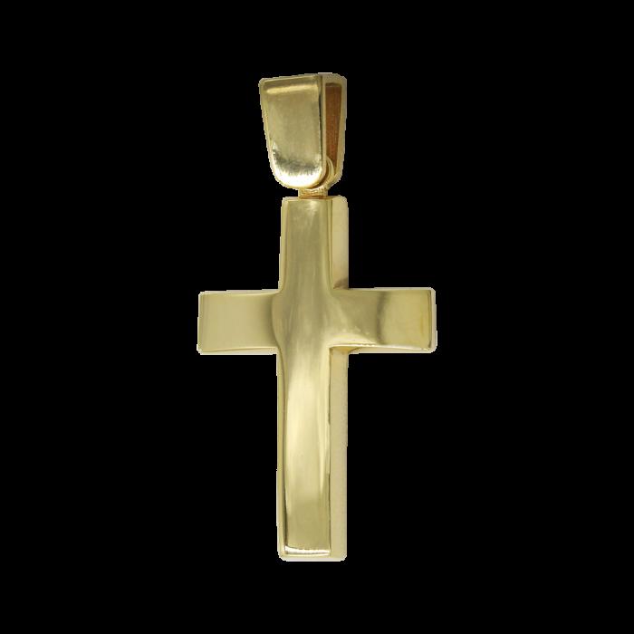 Ανδρικός χρυσός σταυρός 14Κ - ST1471