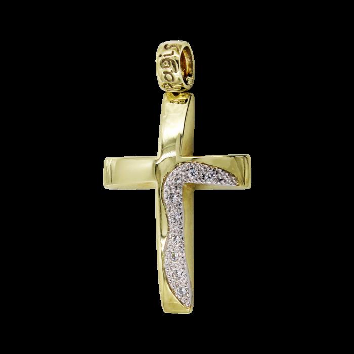Γυναικείος χρυσός σταυρός 14Κ - ST1515
