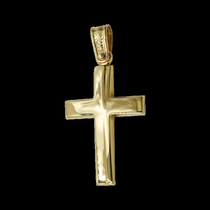 Ανδρικός χρυσός σταυρός 14Κ - ST1523