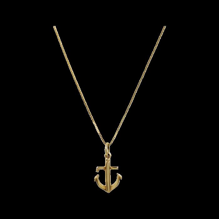 Κολιέ Άγκυρα Χρυσό 14Κ - K1303