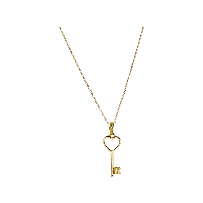 Κολιέ Καρδιά - Κλειδί Χρυσό 14Κ - K1306