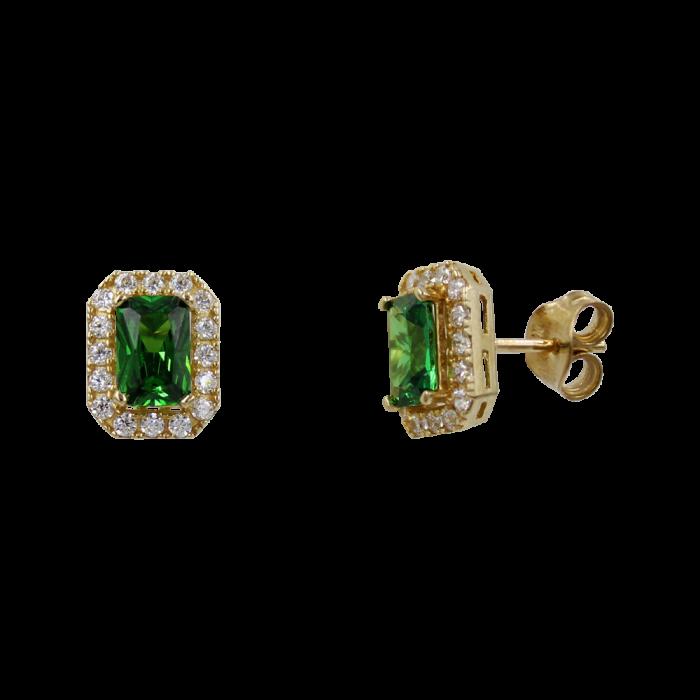 Σκουλαρίκια Χρυσά 14Κ Με Ζιργκόν Πέτρες - S1176
