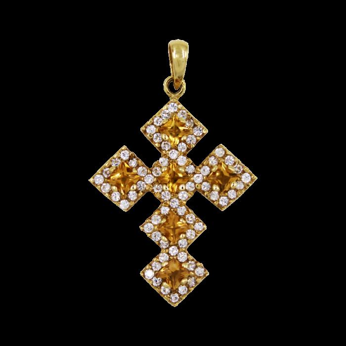Γυναικείος χρυσός σταυρός 14Κ - ST1336