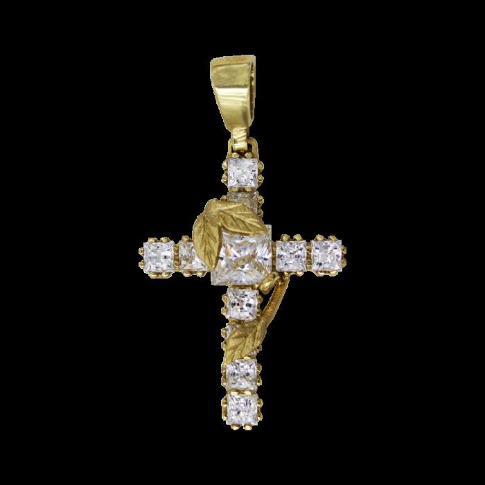 Γυναικείος χρυσός σταυρός 14Κ - ST1339