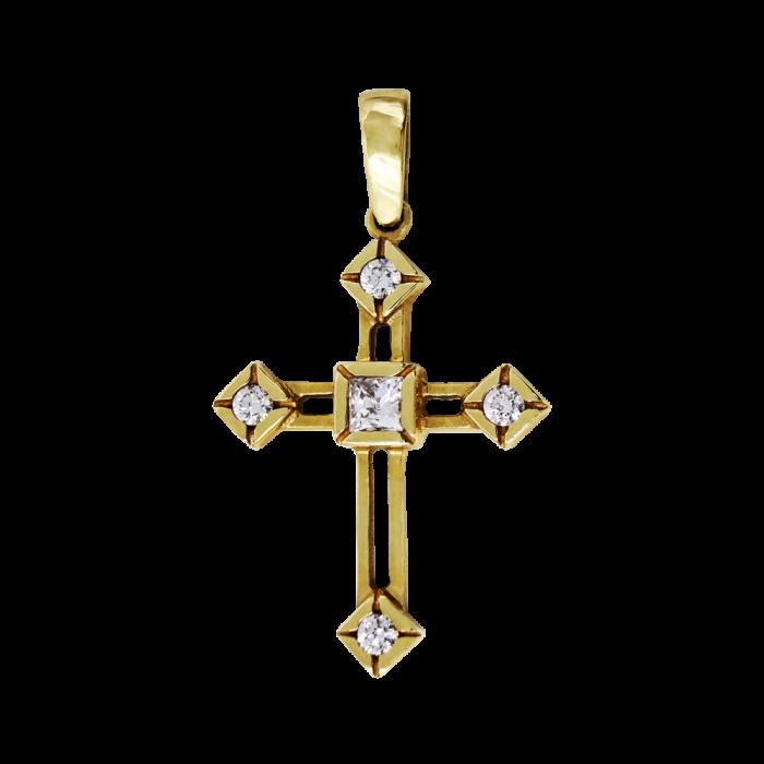 Γυναικείος χρυσός σταυρός 14Κ - ST1340