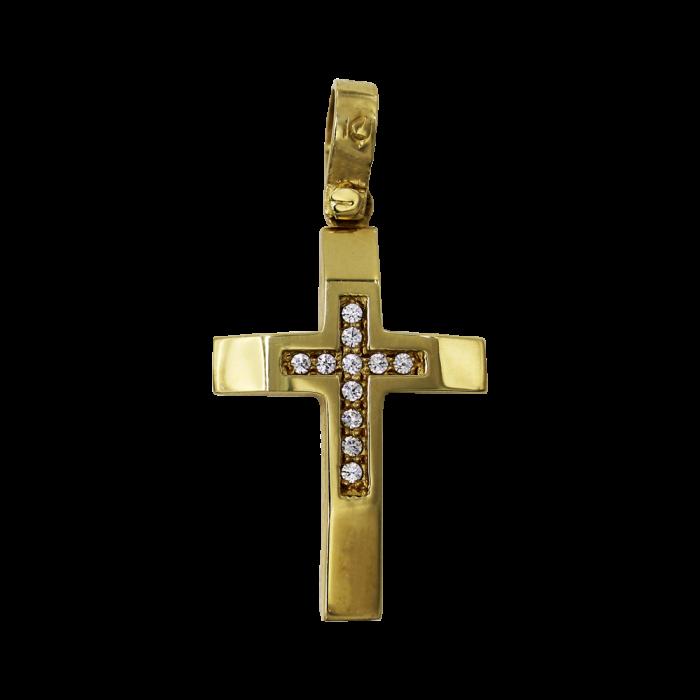 Γυναικείος χρυσός σταυρός 14Κ - ST1342