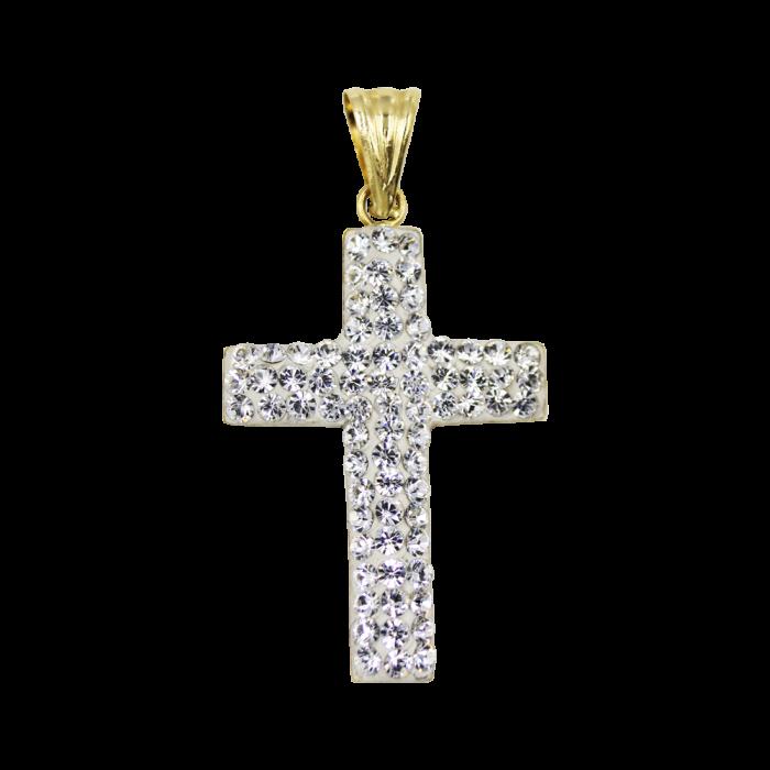 Γυναικείος χρυσός σταυρός 14Κ - ST1343
