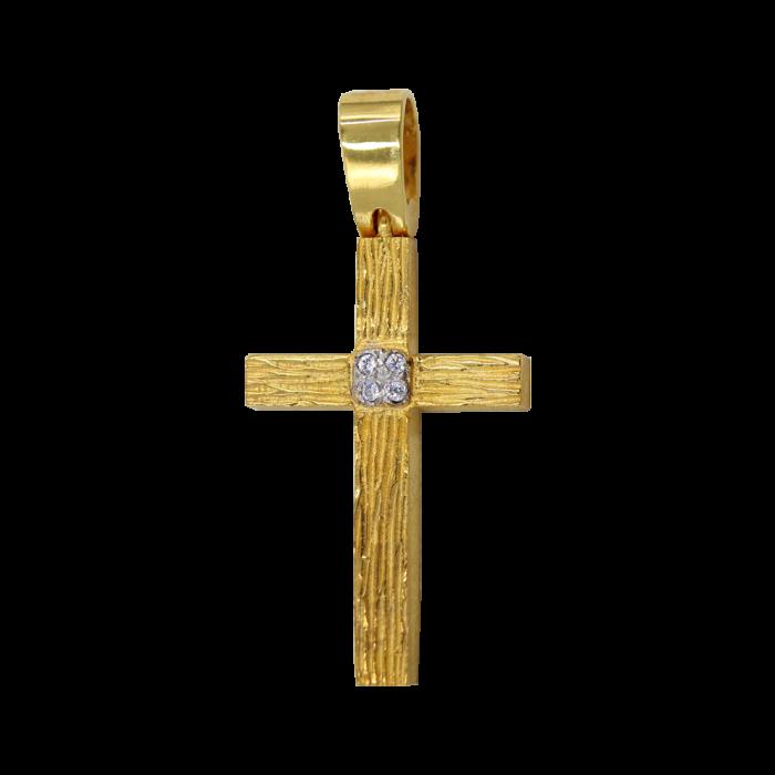 Γυναικείος χρυσός σταυρός 14Κ - ST1345
