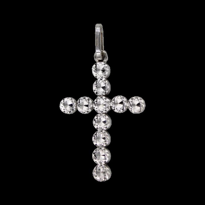 Γυναικείος λευκόχρυσος σταυρός 14Κ - ST1350L