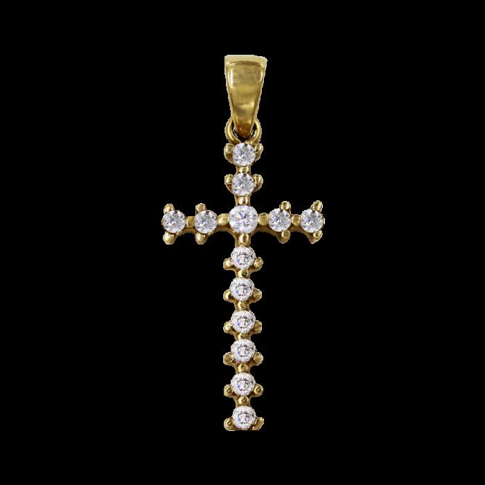 Γυναικείος χρυσός σταυρός 14Κ - ST1352
