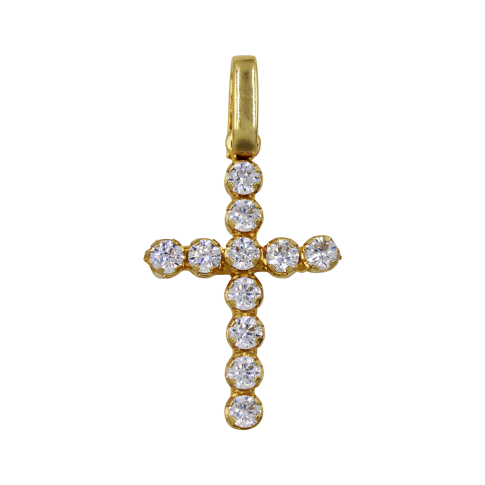 Γυναικείος χρυσός σταυρός 14Κ - ST1367