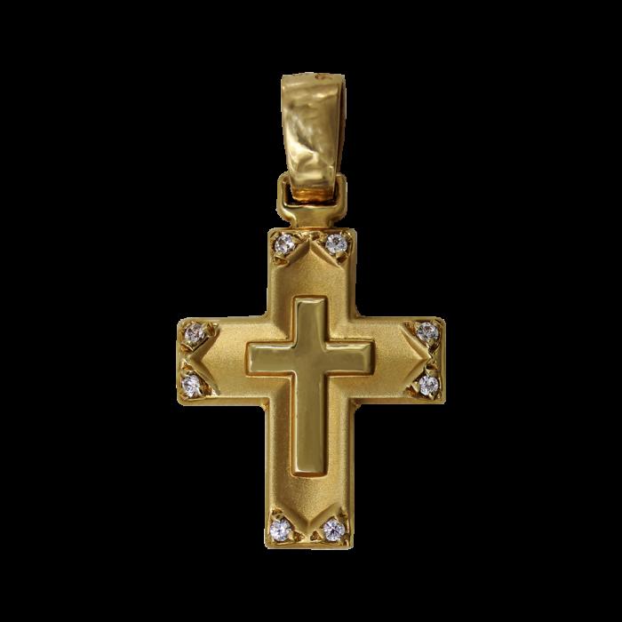 Γυναικείος χρυσός σταυρός 14Κ - ST1374
