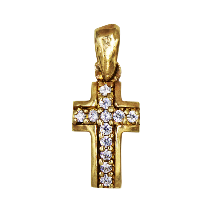 Γυναικείος χρυσός σταυρός 14Κ - ST1389