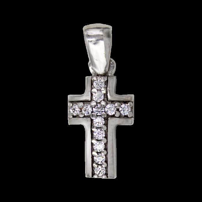Γυναικείος δίχρωμος σταυρός 14Κ - ST1389L