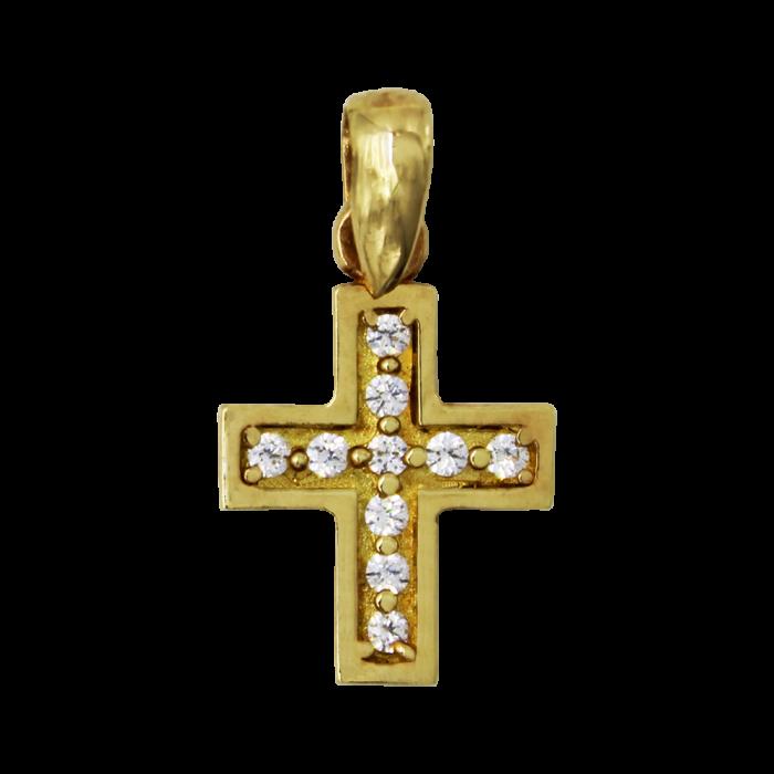 Γυναικείος χρυσός σταυρός 14Κ - ST1390K