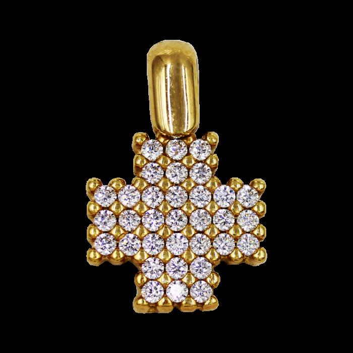 Γυναικείος χρυσός σταυρός 14Κ - ST1391K