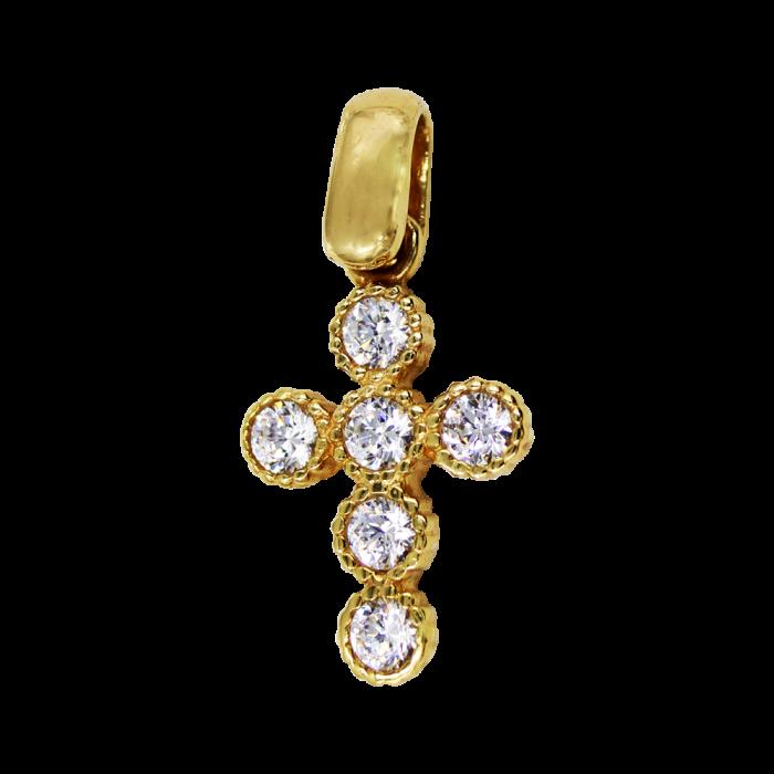 Γυναικείος χρυσός σταυρός 14Κ - ST1392K