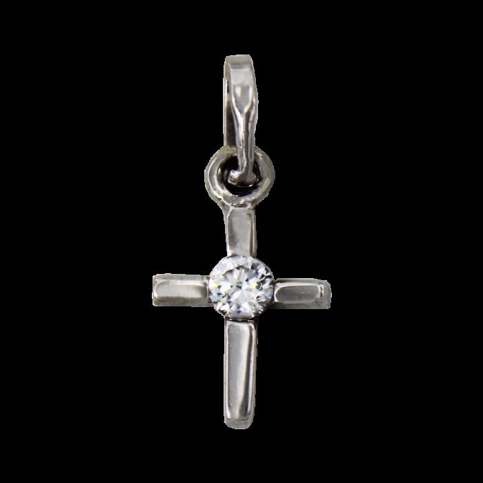 Γυναικείος λευκόχρυσος σταυρός 14Κ - ST1399L