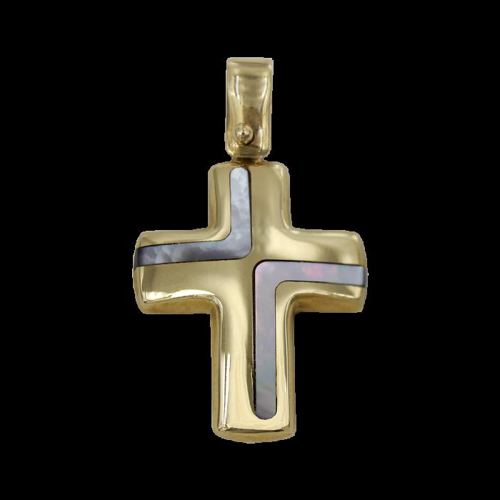 Γυναικείος χρυσός σταυρός 14Κ - ST1409