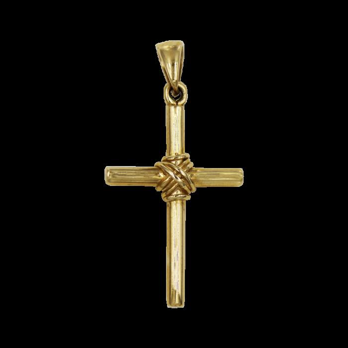Ανδρικός χρυσός σταυρός 14Κ - ST1418K