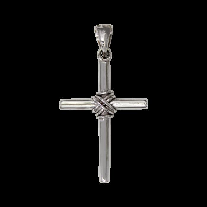 Ανδρικός λευκόχρυσος σταυρός 14Κ - ST1418L