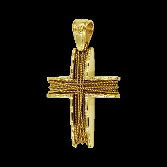 Γυναικείος χρυσός σταυρός 14Κ - ST1480