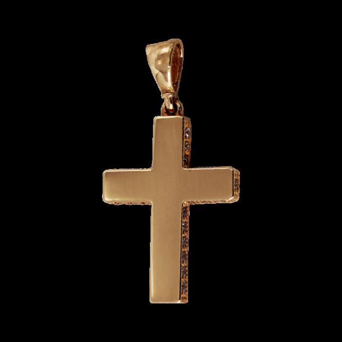 Γυναικείος μπρονζέ σταυρός 14Κ - ST1505